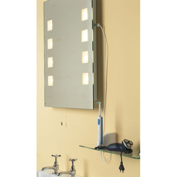 dar lighting ocean bathroom small mirror light with shaver socket