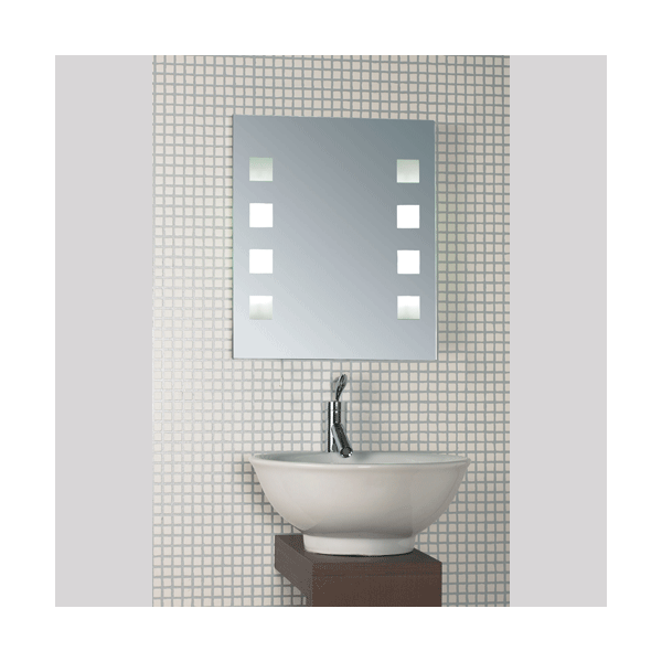 Endon Lighting Murray 8 Light Halogen Illuminated Bathroom Mirror With Pull Cord Switch
