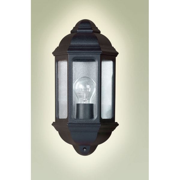Endon Lighting Single Light External Flush Wall Light In Black Finish - Endon Lighting from ...