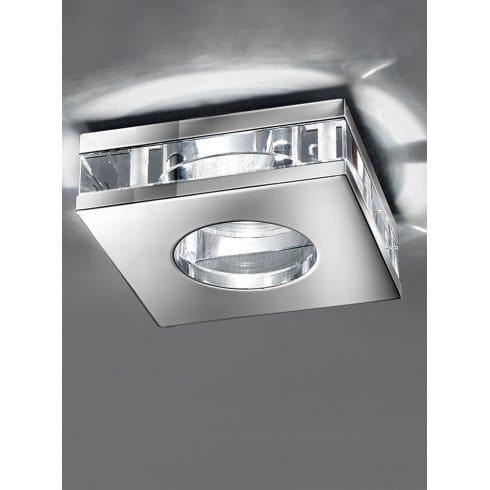 Franklite Recessed Low Voltage Polished Chrome Bathroom Downlight Franklite From Castlegate