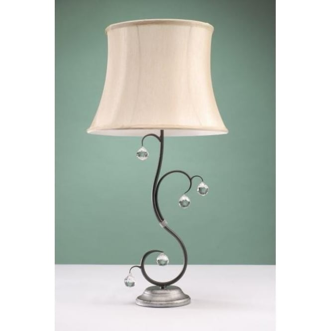 Black and silver table lamps cheapest lighting uk for Black and silver lamps