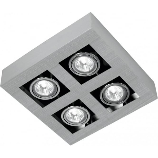 Eglo Lighting Loke Halogen  Brushed Aluminium 4 Light Spot Fitting