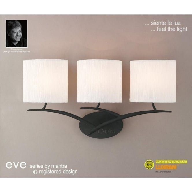 Mantra Eve 3 Light Wall Fitting in Anthracite
