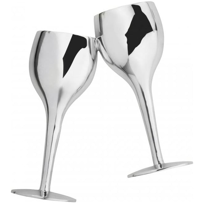 Cheers Wall Art in Polished Chrome Finish