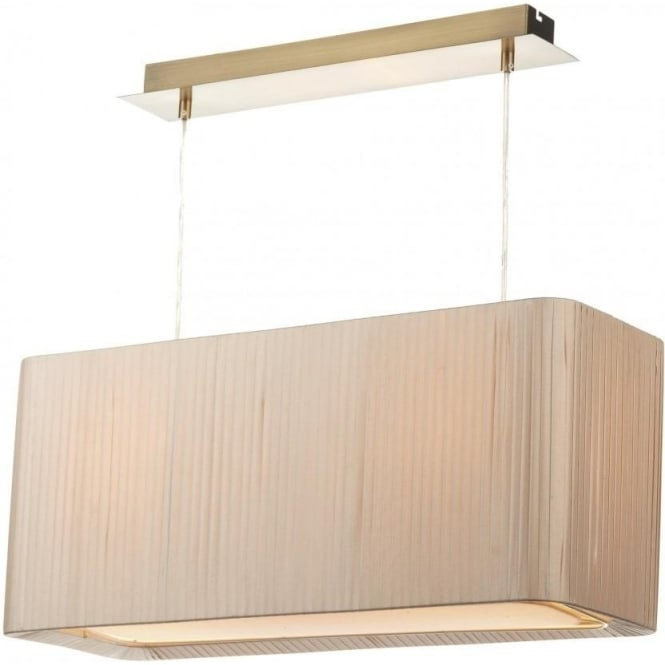 Sofia Taupe Rectangular Easy Fit Non-Electric Shade Designed For use with a 2 Light Suspension Kit