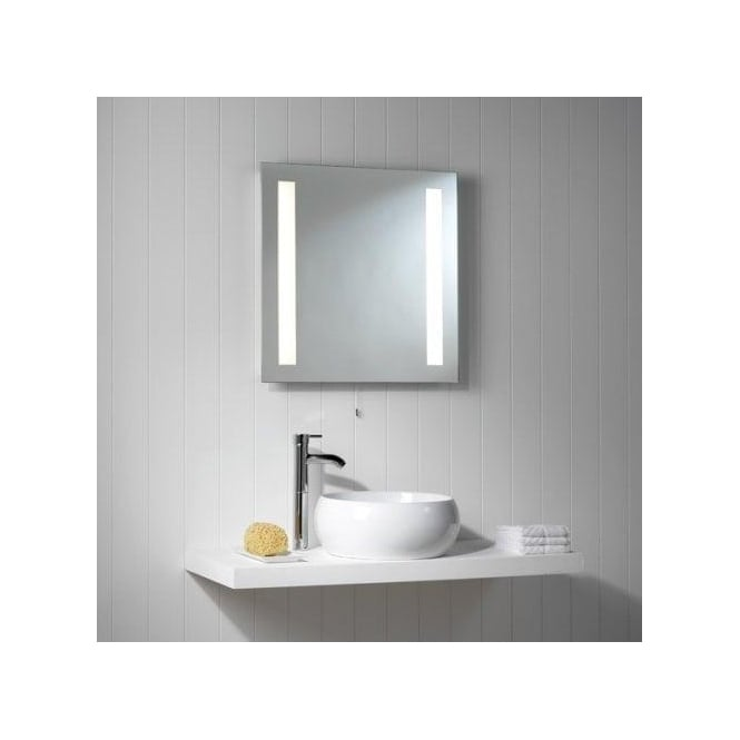 Astro Lighting Galaxy 2 Light Illuminated Bathroom Mirror With Removable Pull Cord Switch