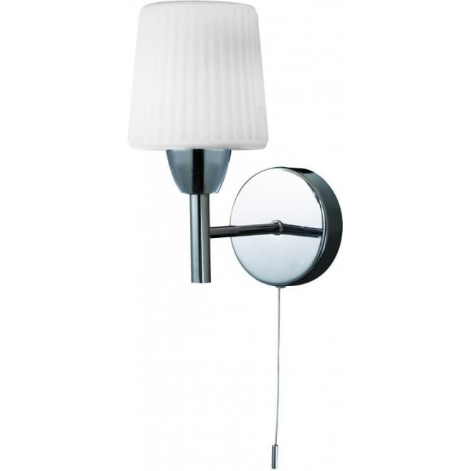 Forum Lighting Aquarius Switched Single Light Bathroom Wall Fixture In Polished Chrome Forum