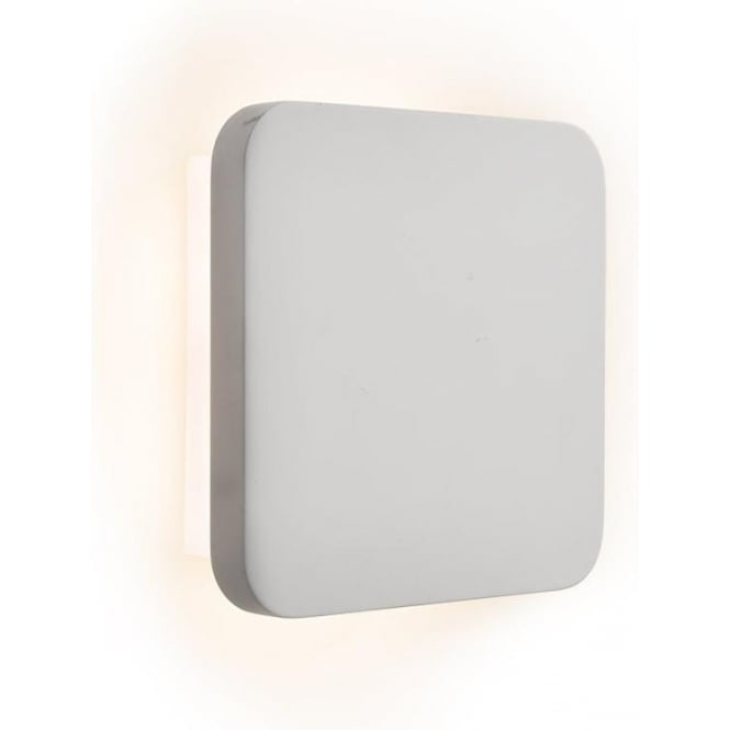 Searchlight Lighting Gypsum 21 Light LED Wall Fitting in a Square White Ceramic Design ...