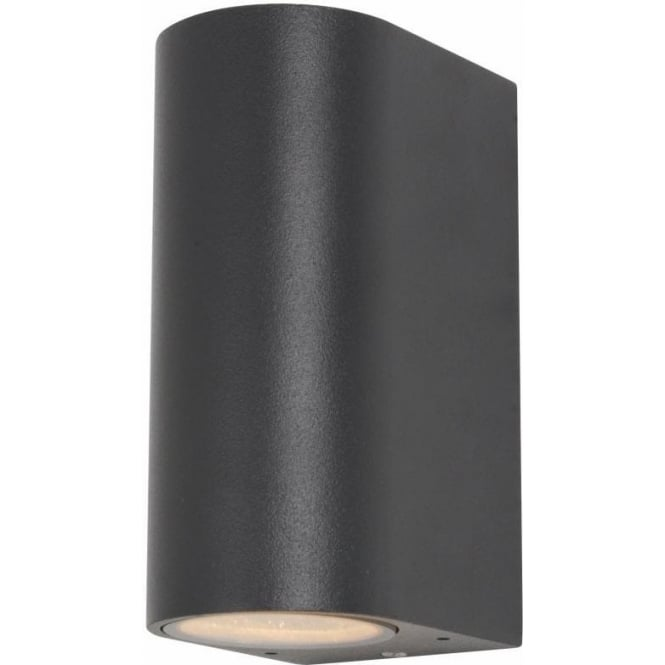 Forum Lighting Isis 2 Light External Up and Down Wall Fixture in an Anthracite Grey Finish ...