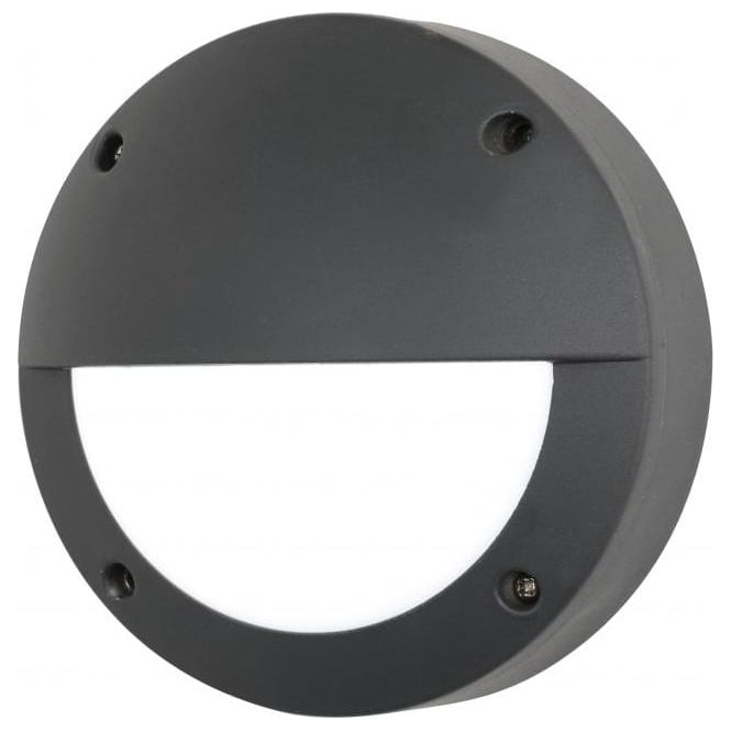 Forum Lighting Poseidon Led Outdoor Bulkhead Wall Fitting With An Anthracite Grey Fi