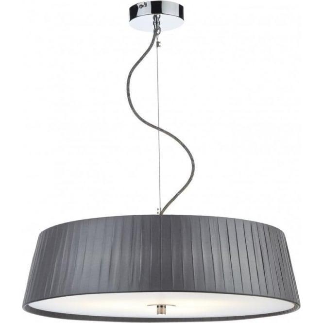 Dar Lighting WHE0339 Wheel 3 Light Ceiling Pendant In Grey