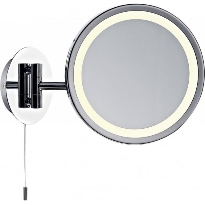 Dar lighting gibson low energy single light switched bathroom mirror in polished chrome dar Polished chrome bathroom mirrors