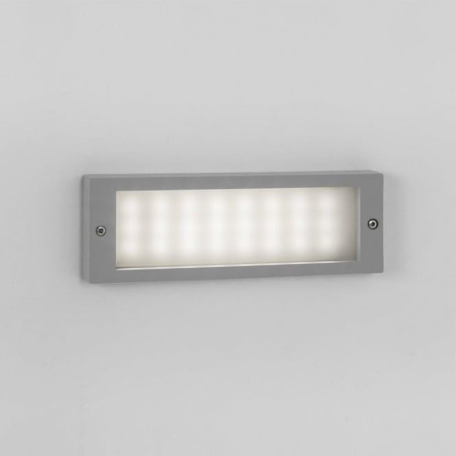 Astro Lighting Brick 24 Light LED Flush Exterior Wall Fitting In Silver Finis