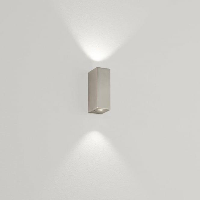 Bloc 2 Light LED Bathroom Wall Fitting In Matt Nickel Finish