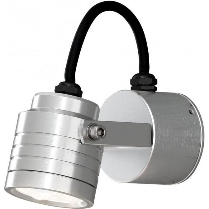 Monza Cylindrical LED Medium Outdoor Wall Fitting in Aluminium