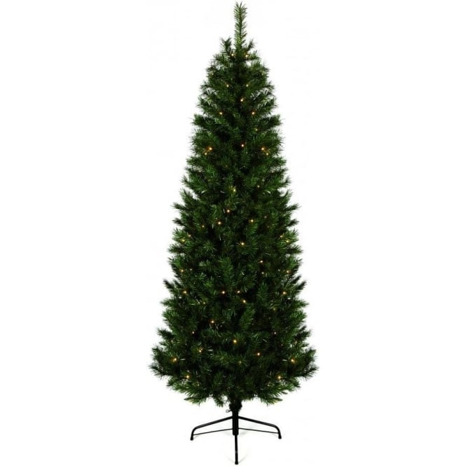 Pre Lit Monterey Fir Artificial Christmas Tree With 180 Warm White LEDs