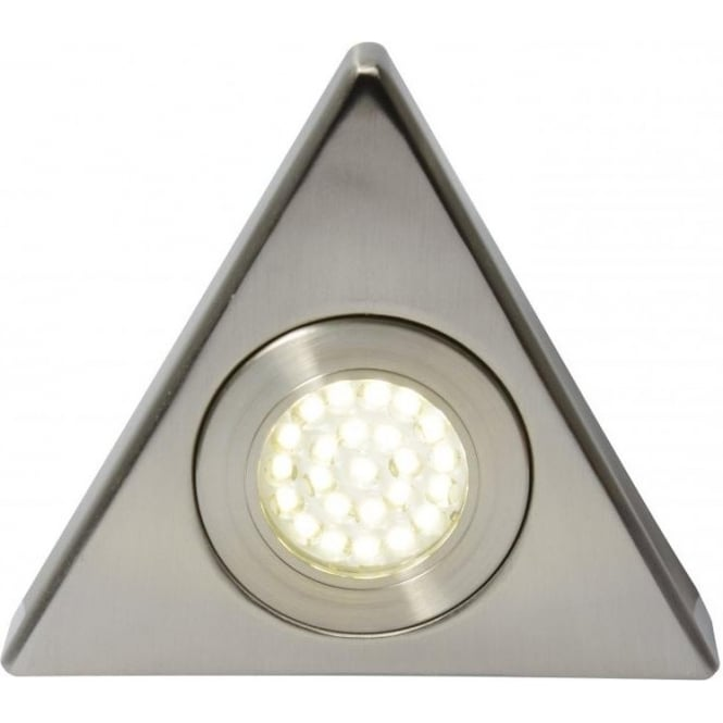 Fonte Triangular Integrated LED Under Cabinet Fitting in Satin Nickel