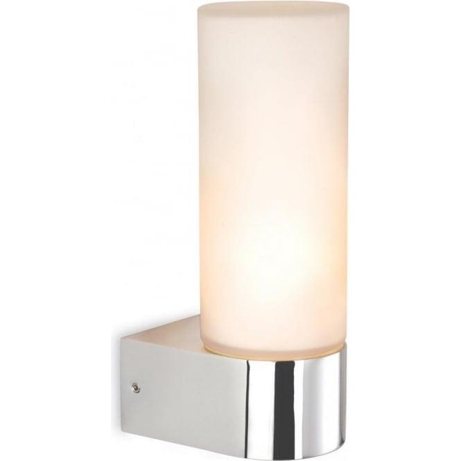 Firstlight 2326ch Reno Single Light Polished Chrome Bathroom Wall Fixture With Opal Glass
