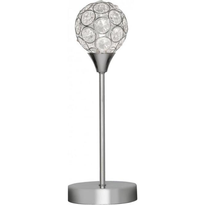 Oaks Lighting Lana Single Light Halogen Table Lamp In Polished Chrome And Crystal Fi