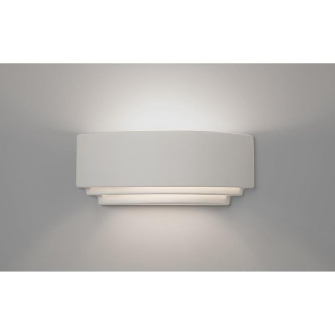 Amalfi 380 Single Light Ceramic Wall Fitting In White Finish