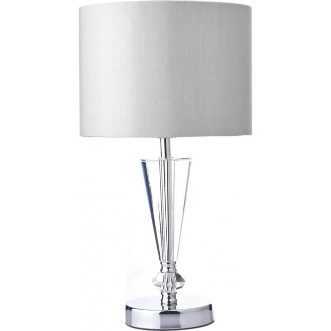 Scipio Single Light Polished Chrome Table Lamp with Crystal Detail