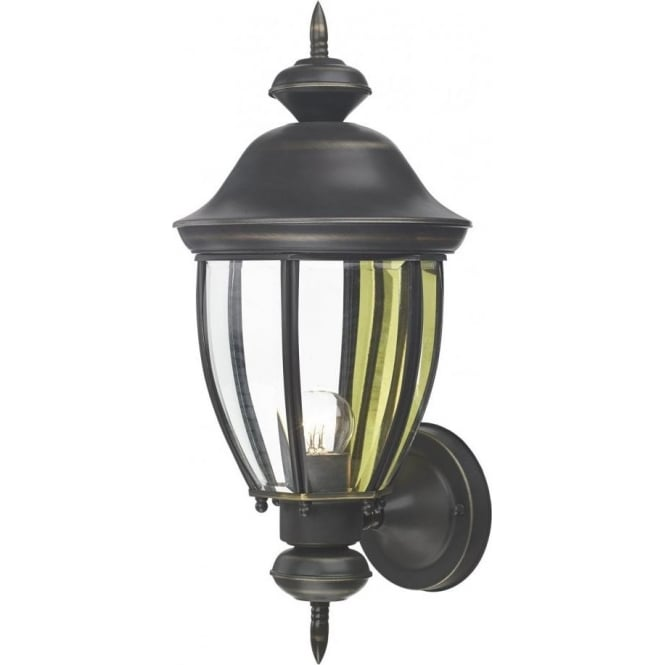 Lodge Single Light Outdoor Wall Fixture in a Black Finish