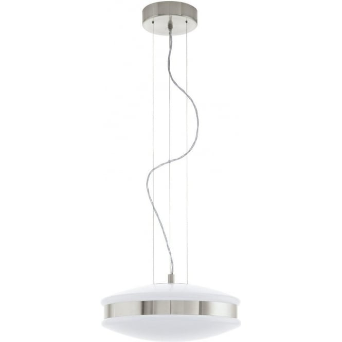 Lighting|Lamps & Lights|Christmas Decoration Corvolo 2 Light LED Ceiling Pendant In Satin Nickel Finish With White Acrylic Diffuser