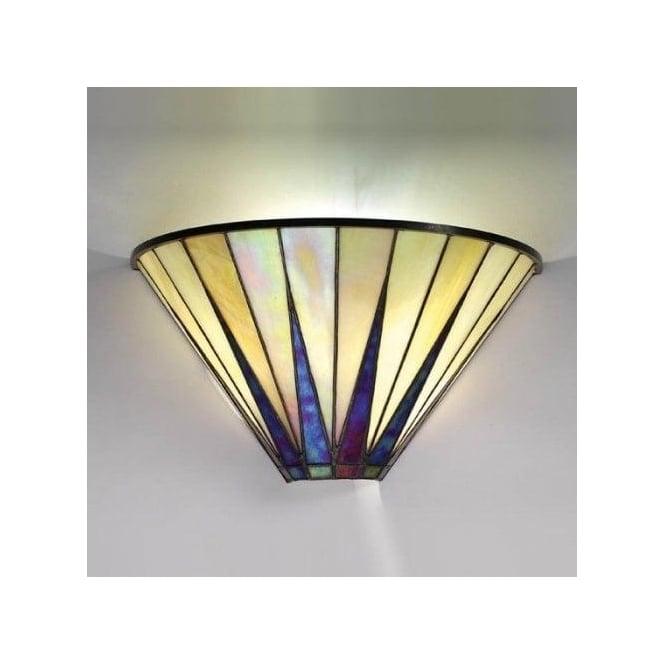 Interiors 1900 Dark Star Single Light Wall Uplighter with Tiffany Design - Interiors 1900 from ...