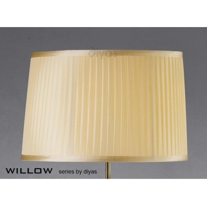 willow 40cm shade with pleated cream fabric ideal for floor lamps
