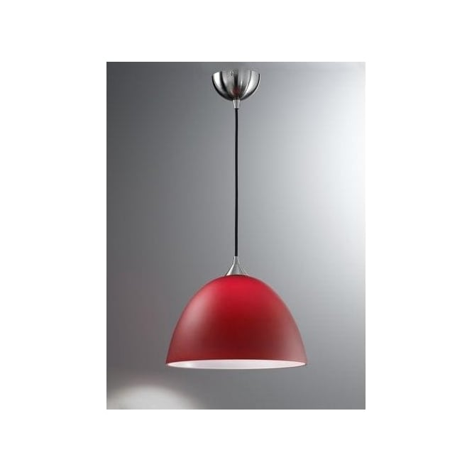Pendant light shades red :