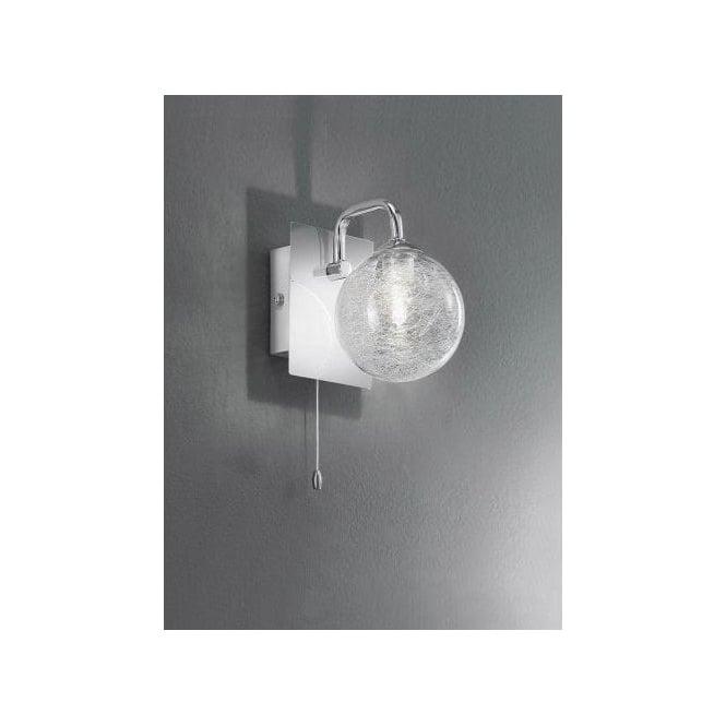franklite lighting wb050 led single polished chrome bathroom wall