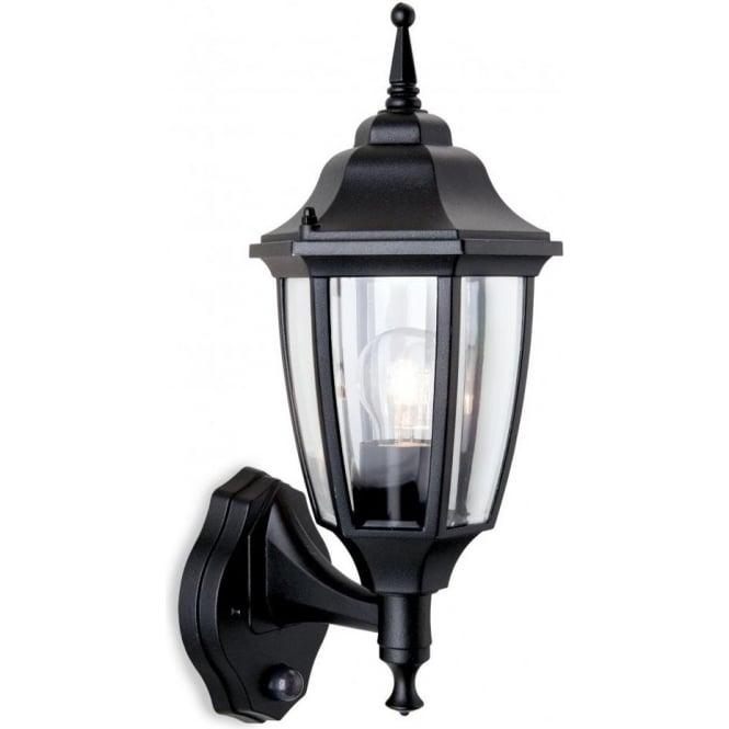 Lanark Outdoor Wall Light With Pir In Black : Firstlight Faro Single Light Outdoor Wall Lantern in Black with PIR - Firstlight from Castlegate ...