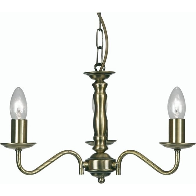 8230/3 ab nador 3 light ceiling multi arm chandelier in antique brass finish