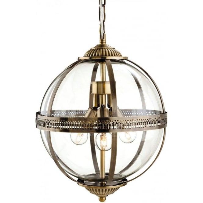 Brass Finish Ceiling Lights : Firstlight mayfair light ceiling pendant in antique