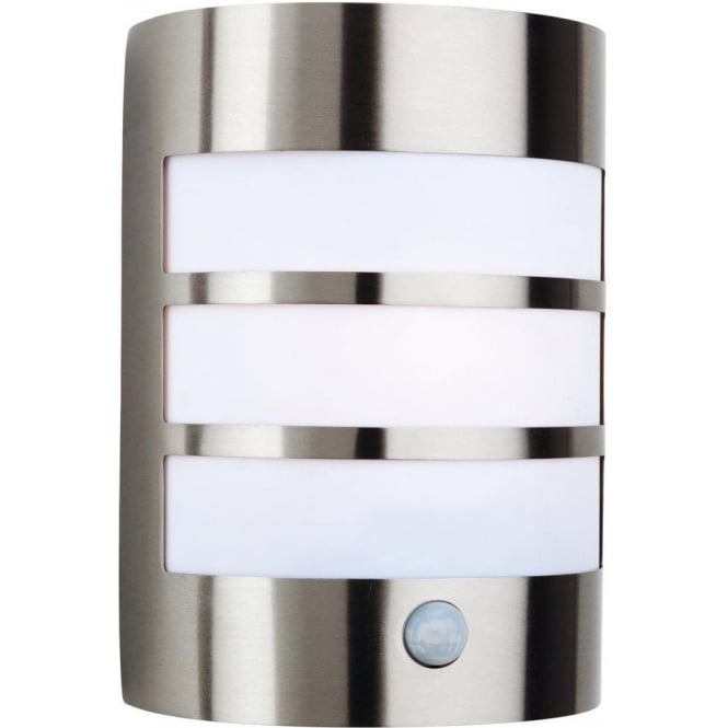 Stainless Steel Outdoor Wall Lights With Pir : Firstlight Stainless Steel Single Light Outdoor Wall Lamp with PIR Sensor - Firstlight from ...