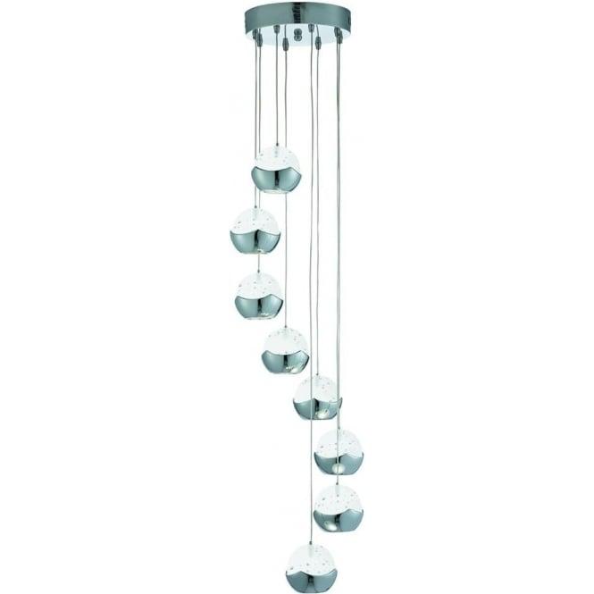 searchlight lighting iceball led chrome 8 light multi drop. Black Bedroom Furniture Sets. Home Design Ideas