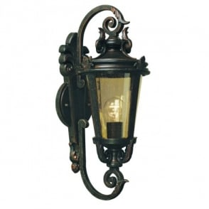 Baltimore Medium Single Light External Wall Lantern in a Weathered Bronze Finish