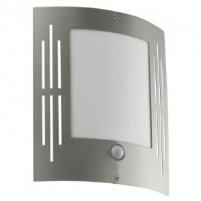 City Stainless Steel Low Energy Outdoor Wall Fitting With PIR