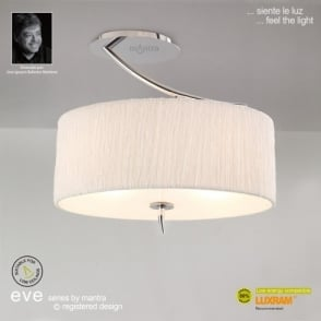 Eve 2 Light Semi Flush Ceiling Fitting in Polished Chrome