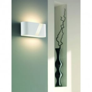 Katie Single Light Low Energy Wall Fitting in White Finish