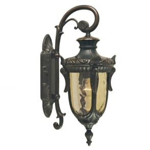 Philadelphia External Single Light Hanging Wall Lantern in Old Bronze