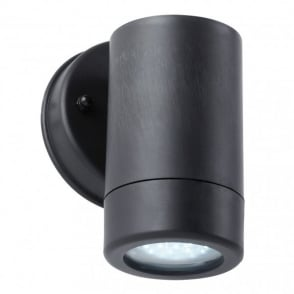 Enluce Single Light LED Outdoor Wall Spotlight Fitting In Black Finish