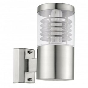 Basalgo Single Light Outdoor Wall Fitting in Stainless Steel Finish