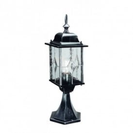 Elstead Lighting Wexford Pedestal Lantern in Black Silver Finish
