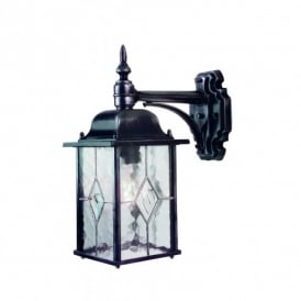 Elstead Lighting Wexford Wall Lantern in Black Silver Finish