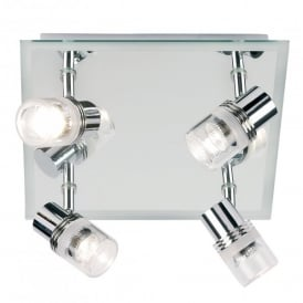 Enluce 4 Light Halogen Spot Light Fitting in Polished Chrome And Mirror Finish