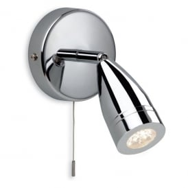 Storm LED Switched Single Light Bathroom Spotlight in Polished Chrome