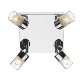 Artemis 4 Light Spotlight Ceiling Fixture in Polished Chrome