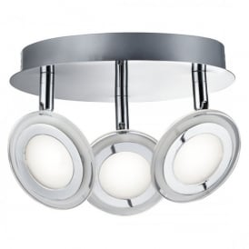 Frenzy 3 Light LED Spot Light Ceiling Fitting In Polished Chrome Finish