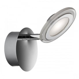 Frenzy Single Light LED Spot Light Wall Fitting In Polished Chrome